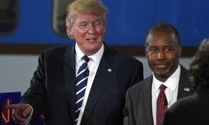 Donald Trump (left) and Ben Carson at the Sept. 16 Republican presidential debate.