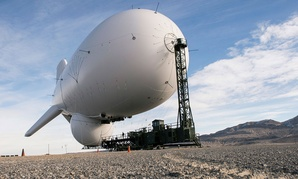 A different JLENS blimp is seen at  at the Utah Test and Training Range in 2014.