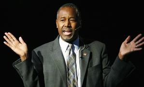Republican presidential candidate Ben Carson speaks during a campaign stop Oct. 29 in Lakewood, Colo.
