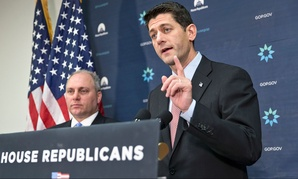 Paul Ryan and Steve Scalise spoke on the issue of Syrian refugees Tuesday in Washington.