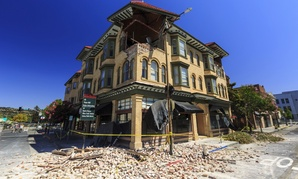 The aftermath of the magnitude 6 earthquake in August 2014 that shook Napa County.