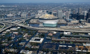 Hurricane Katrina flooded New Orleans in 2005.