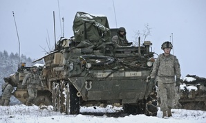 Dragoon troopers from the Army's Field Support Troop, 4th Squadron, 2nd Cavalry Regiment conduct a logistics convoy and deliver supplies in Germany.