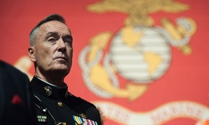 Marine Corps Gen. Joseph F. Dunford Jr., the 19th chairman of the Joint Chiefs of Staff, delivers remarks at the Boston Semper Fidelis Society Birthday Luncheon at the Boston Convention and Exhibition Center in Boston in November.