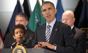 Barack Obama spoke at the National Counterterrorism Center Thursday.