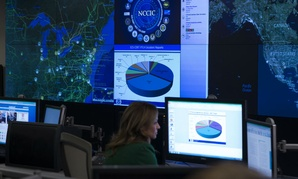 A view of the National Cybersecurity and Communications Integration Center in Arlington, Va., Tuesday, Jan. 13, 2015, before President Barack Obama spoke. Obama renewed his call for Congress to pass cybersecurity legislation, including a proposal that enc