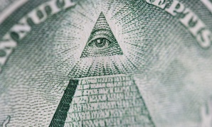 The Eye of Providence as it appears on the one-dollar bill.