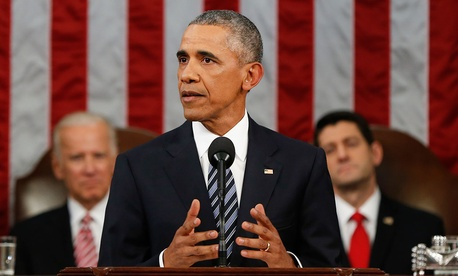 """""""Our Founders distributed power between states and branches of government, and expected us to argue, just as they did, over the size and shape of government,"""" Obama said."""