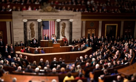 President Obama at his 2010 State of the Union address.