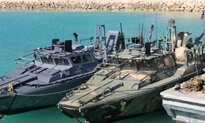 Iran released this photo detained American Navy sailors' boats in custody of the guards in the Persian Gulf last week.