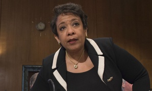 Attorney General Loretta Lynch arrives on Capitol Hill to testify about Obama's gun control executive actions.