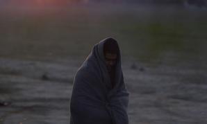 Sunrise at a refugee camp in Greece.