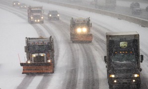 Parts of Virginia were under a blizzard warning early Friday.