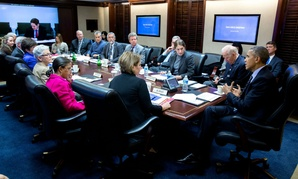 President Obama convenes a meeting in the situation room on the Zika virus.