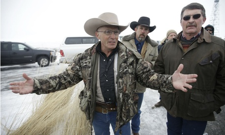 LaVoy Finicum, a rancher from Arizona, speaks to the media on Jan. 9. Finicum was killed Tuesday.