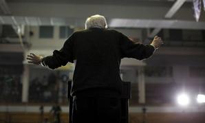 Democratic presidential candidate Sen. Bernie Sanders, I-Vt., speaks at a campaign event in Iowa.
