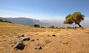 Ethiopia's Simien Mountains National Park is shown during the dry season.