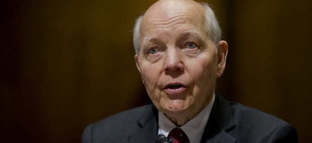 IRS Commissioner John Koskinen, testifies before a Senate Finance Committee hearing on Wednesday.