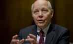 IRS Commissioner John Koskinen, testifies before a Senate Finance Committee hearing on Wednesday.