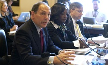 VA Secretary Bob McDonald testifies before the House Veterans' Affairs Committee Wednesday on the department's budget request.