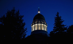 The Maine State House in Augusta, Maine.