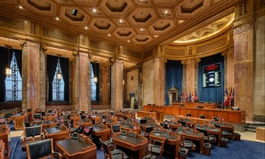The Louisiana State Senate Chamber in Baton Rouge.
