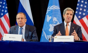 John Kerry and Russian Foreign Minister Sergey Lavrov address the media Friday.