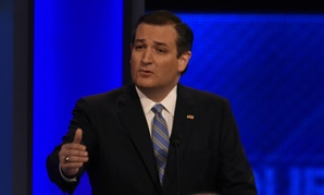 Ted Cruz at a Republican presidential debate in New Hampshire on Feb. 6.