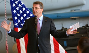 Defense Secretary Ashton Carter speaks at Marine Corps Air Station Miramar, Calif., in February.