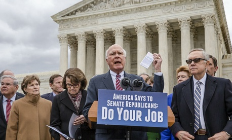 Sen. Patrick Leahy, D-Vt., and other Democrats call on Republicans to give any Obama Supreme Court nomination a fair chance.