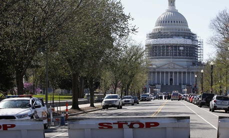 The Capitol complex was on lockdown Monday.