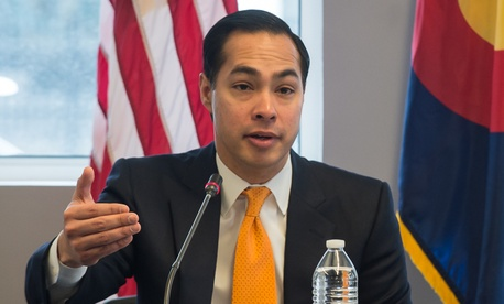 U.S. Department of Housing and Urban Development Secretary Julián Castro speaks in Colorado in March.
