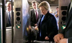 Hillary Clinton even rode the subway! Like a regular person! Kinda!