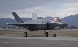 An F-35 returns to Luke Air Force Base, Arizona.
