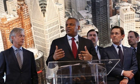 Transportation Secretary Anthony Foxx, shown speaking at an event in Detroit in January, says the department wants to support small businesses.