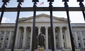 The Treasury Department building in Washington, DC.