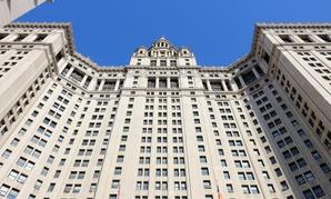 The New York City Municipal Building in Lower Manhattan.