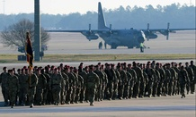 More than 115 paratroopers assigned to Headquarters and Headquarters Battalion, 82nd Airborne Division, return home from a nine-month deployment