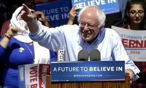 Democratic presidential candidate Bernie Sanders campaigns in California.