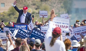 Donald Trump appears at an Arizona rally in March.