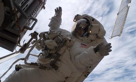 NASA astronaut Sunita Williams participated in three spacewalks.