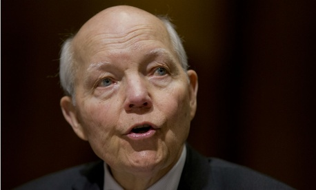 IRS chief John Koskinen testifies on Capitol Hill.