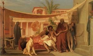 "Jean-Léon Gérôme's ""Socrate venant chercher Alcibiade chez Aspasie"""