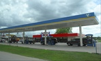 A gas station in San Marcos, Texas