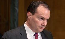 Sen. Mike Lee, R-Utah prepares for a meeting of the Senate Judiciary Committee in April.