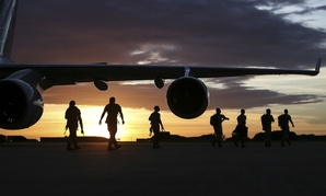 U.S. Marines arrive in Darwin, Australia, in April to begin preparation for exercises and training with the Australian Defense Forces.