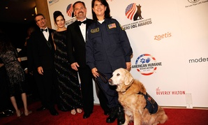 """Bretagne attends the American Humane Association's 4th Annual """"Hero Dog Awards"""" at the Beverly Hilton Hotel in 2014"""