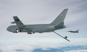 The KC-46A Pegasus deploys the centerline boom in 2015.