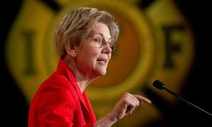Sen. Elizabeth Warren, D-Mass. speaks at the International Association of Firefighters  Legislative Conference and Presidential Forum in 2015.