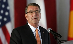 Defense Secretary Ash Carter speaks during the change of command ceremony last month.